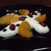 Postre de naranja y yogur