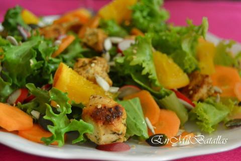 12 ensaladas con pollo - En Mil Batallas