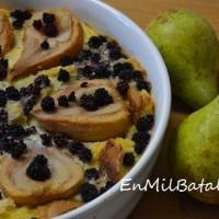 Pudding rústico de peras y moras