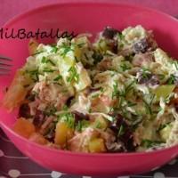 Ensalada de patata y remolacha