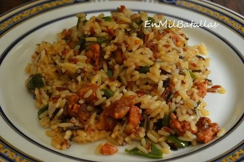 Arroz salteado con chorizo en mil batallas - Salteado de arroz ...