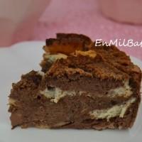 Pudding rústico de chocolate y plátano