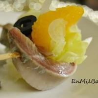 Rollitos de sardina ahumada y naranja (y ahumados Benfumat)