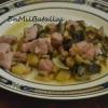 Guiso de berenjenas y salchichas-MMM