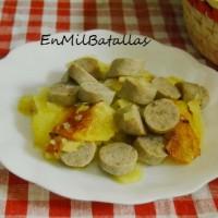 Patatas con salchichas de Turingia