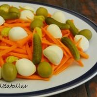 Ensalada de zanahoria y mozzarella