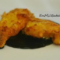 Bocaditos de bacalao con salsa de chipirones
