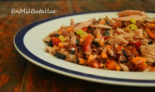 Ensalada de arroz rojo y at n en mil batallas - Ensalada de arroz y atun ...