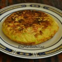 Tortilla picante de calabacín