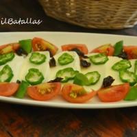 Mozzarella en ensalada