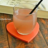 Limonada con licor de fresas