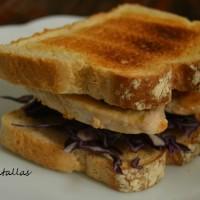 Sandwich de pollo con lombarda