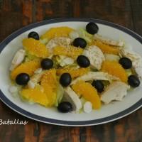 Ensalada de pollo y naranja (aprovechamiento)