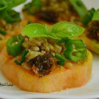 Ensalada de tomate y avena