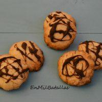 Galletas con hilos de chocolate