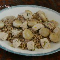 Trigo sarraceno con pollo y champiñones
