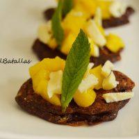 Tortitas de chocolate y melocotón
