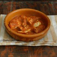 Pollo en salsa de aprovechamiento